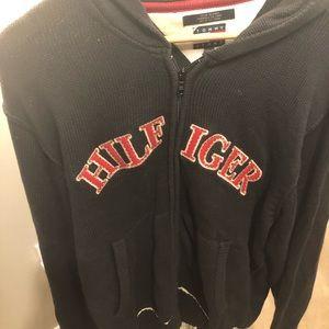 Mint Tommy Hilfiger knit zip up sweater jacket L!!